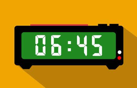 Digital alarm clock vector 일러스트