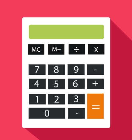 Flat Calculator Vector Illustration 일러스트