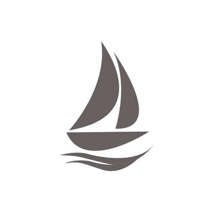 yacht icon vector illustration