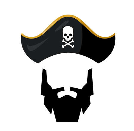 Bearded pirate with pirathat 일러스트