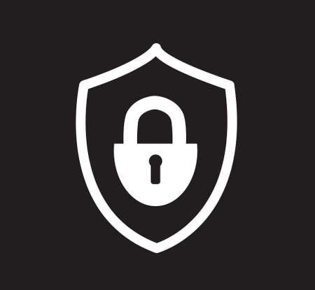 padlock icon symbol vector illustration 일러스트