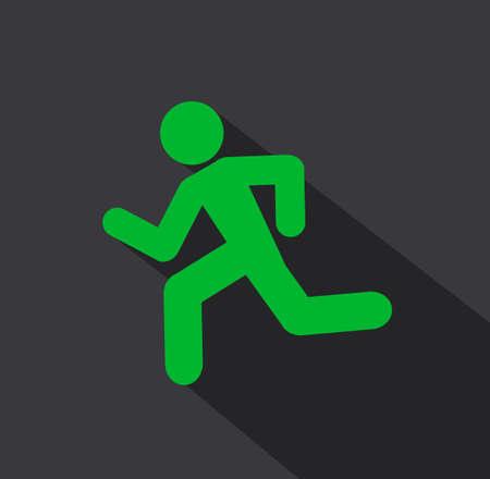 running man icon background