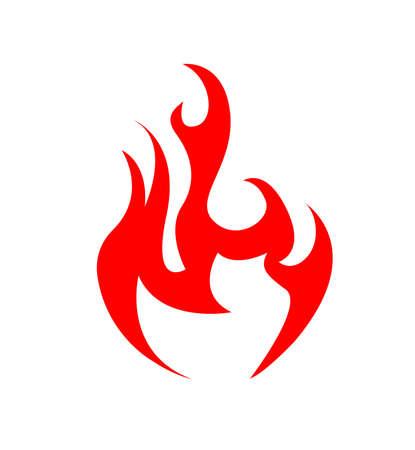 Abstract Fire Icon vector illustration 일러스트