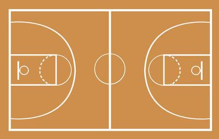 basketball court vector illustration 일러스트