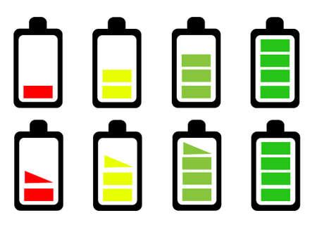 Battery icon set vector illustration