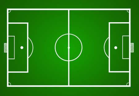 vector illustration of a soccer field 일러스트