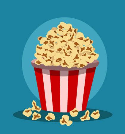 Popcorn pack design vector illustration 일러스트
