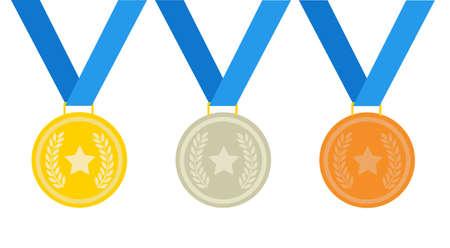 medal vector illustration on white 일러스트