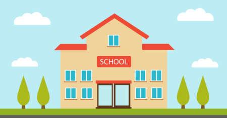 High school building vector illustration 일러스트