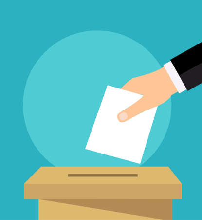 hand holding voting paper