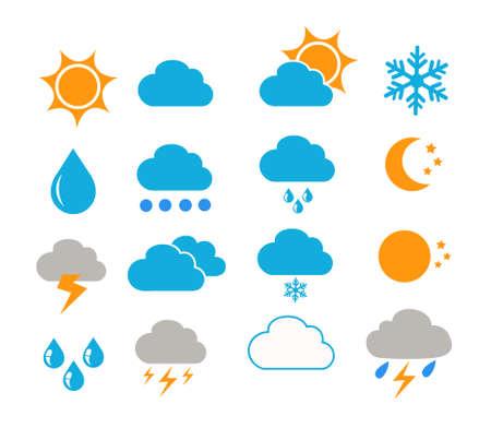 weather icons vector illustration Ilustración de vector