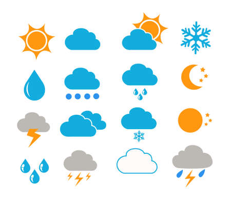 weather icons vector illustration Vetores