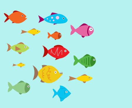 Aquarium Fishes - set of vector icons