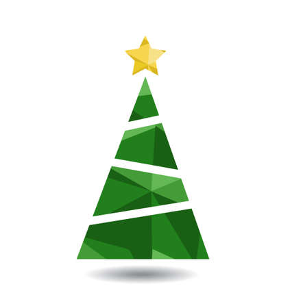 Abstract christmas tree vector illustration 向量圖像