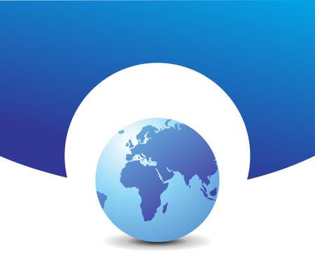 world globe vector illustration 向量圖像