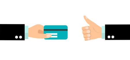 businessman holding credit card