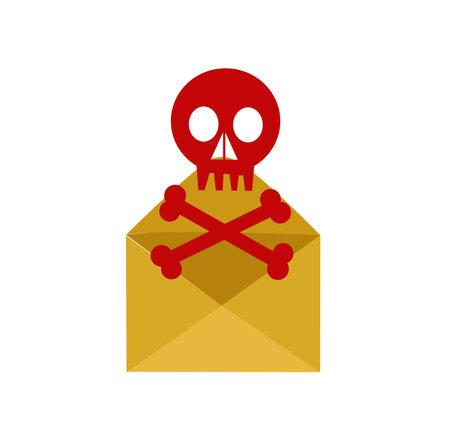 envelope and skull vector illustration