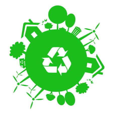 green earth vector illustration