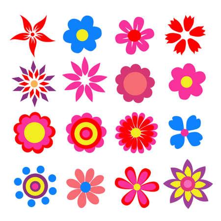 colorful spring flowers vector illustration Ilustración de vector