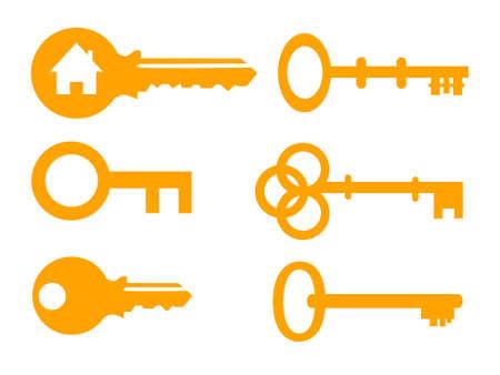 Key vector illustration icon set