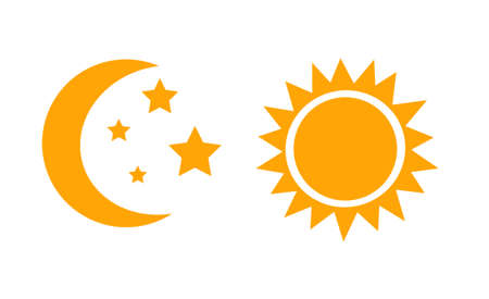 the moon and the sun night and day