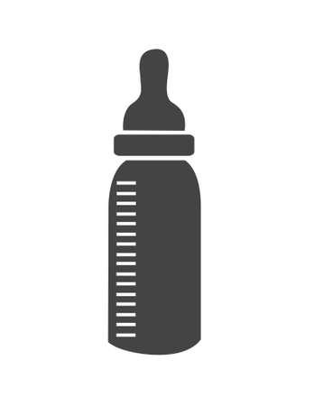 Baby bottle icon vector Stock Illustratie