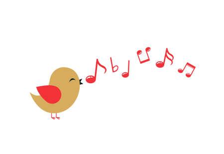 Colored Bird vector illustration