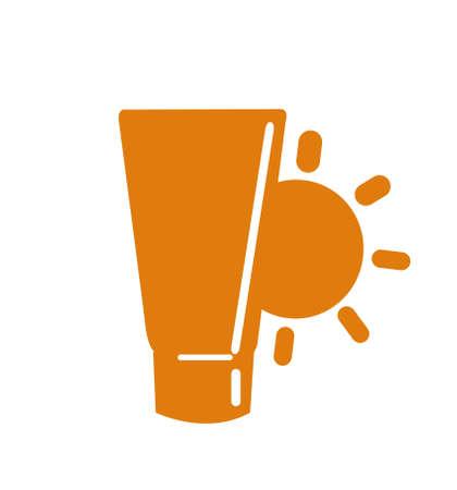 glossy sunblock cream vector illustration Stock Illustratie