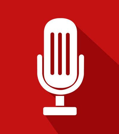 vector illustration microphone design