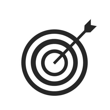Icon marketing target graphic design