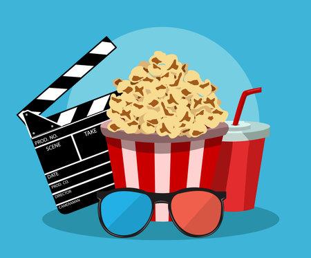 Vector illustration for the film industry Illustration