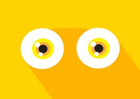 cartoon eyes icon vector