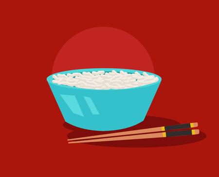 rice chinese food vector illustration Illustration