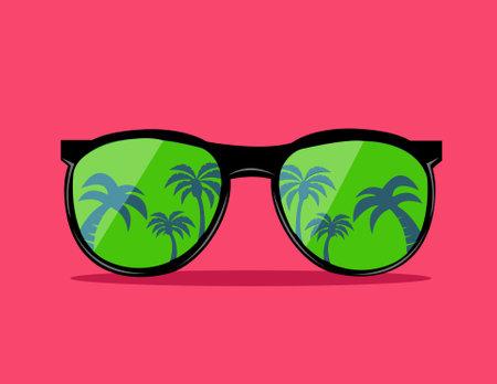 trendy sunglas vector illustration