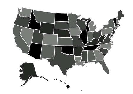 USA map vector illustration Illustration