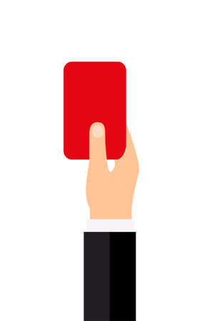Soccer referee with red card