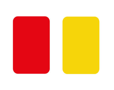 Soccer red and yellow card Illustration