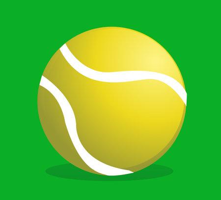 Sport tennis ball vector illustration