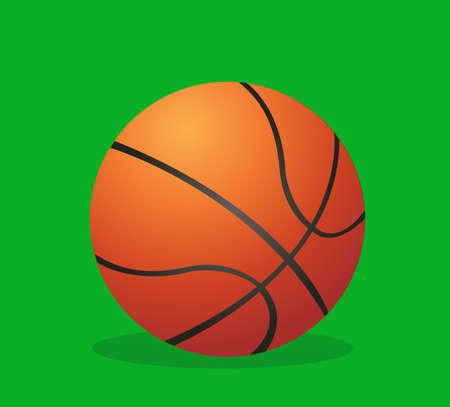 Vector illustration of a Basketball