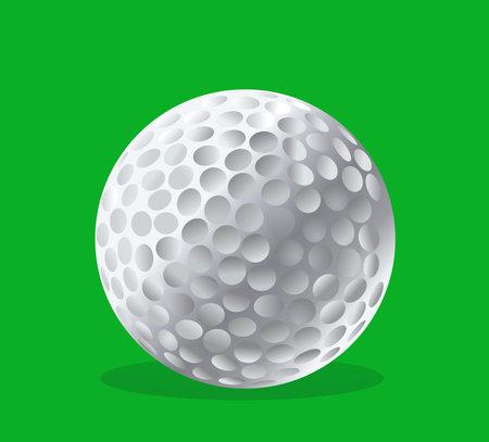 Golf ball vector illustration Illustration