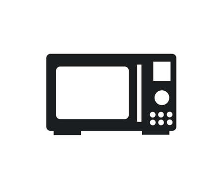 Microwave cooking vector icon