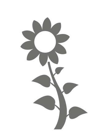 Sunflower icon isolated on white background