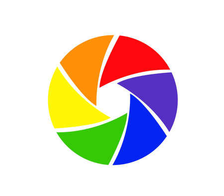 Camera objective icon vector Illustration