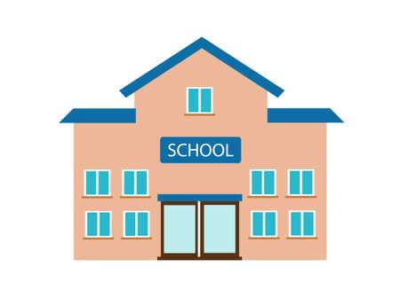High school building vector illustration Illustration