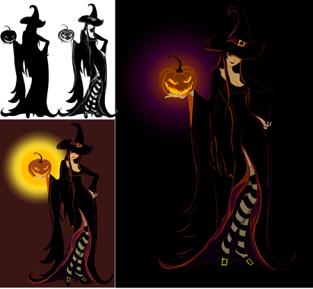 Lady Halloween -  Witch Stock Vector - 3635107