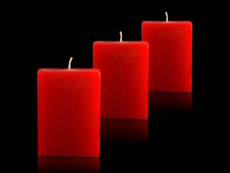 Three Red Candles Stock Photo - 3815245