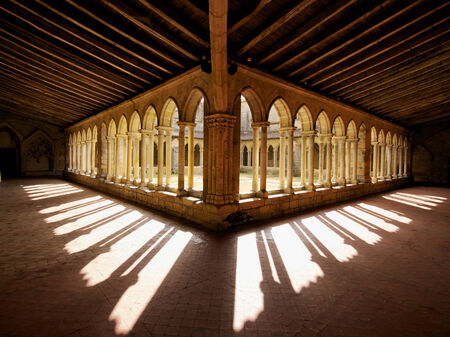 milion: Cloister shadows Saint Emilion France
