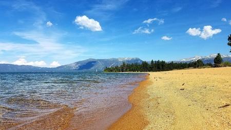 Sandy Beach at Lake Tahoe Stock fotó