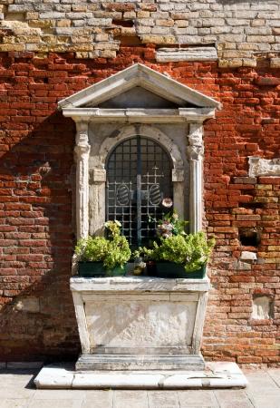 Catholic home altar at St  Antonio, Venice, northern Italy photo