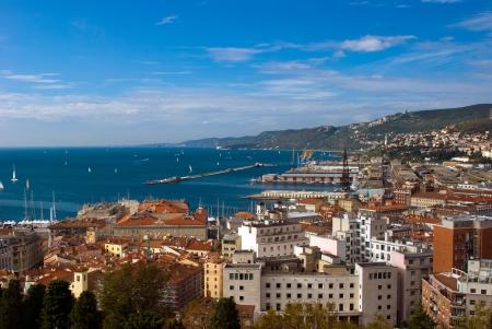 trieste: sea view  of Trieste Port, Italy Stock Photo